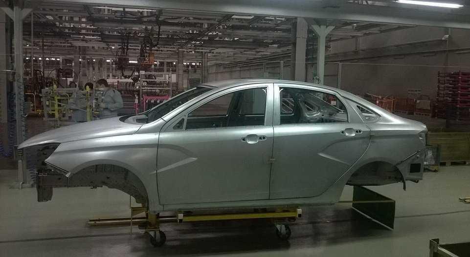 Седан Lada Vesta запущен в серийное производство