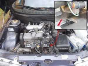 Где находится номер двигателя гранта 8 клапанов