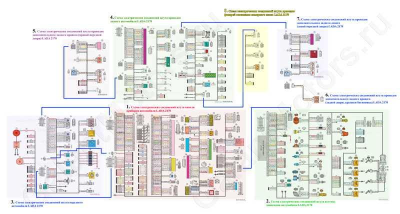 Общая схема электрооборудования ВАЗ 2170 приора