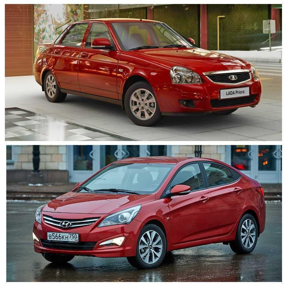 Сравнение автомобилей седан ВАЗ (Lada) Priora I рестайлинг и седан Hyundai Solaris I