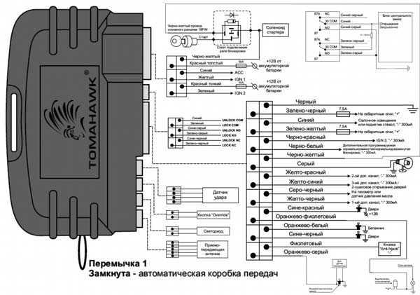 Схема подключения Томагавк 9010: установка сигнализации своими руками